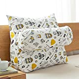 Xcjj Cuscino lavabile Cuscino per ufficio, cuscini in cotone e lino Cuscino per ufficio Cuscini per il letto Cuscino di sostegno lombare, che contiene nucleo,60 * 50 * 22cm, 3
