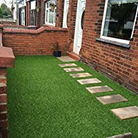 Lisbon 26mm Pile Height Artificial Grass | Choose from 47 Sizes on this Listing | Cheap Natural & Realistic Looking Astro Garden Lawn | Sample of Cheap High Density Fake Turf