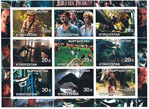 timbres-pour-collectionneurs-movie-perforfated-tampon-drap-avec-jurassic-park-iii-sam-neill-william-