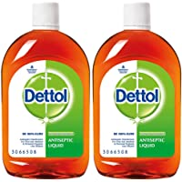 Dettol Antiseptic Disinfectant liquid for First aid, Surface Cleaning and Personal Hygiene, 550ml Each (Pack of 2)