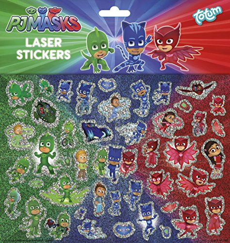 PJ Masks Pyjamahelden Catboy, Owlette und Gekko Laser-Stickerbogen mit über 40 Laserstickern, Aufklebern, bunt - TM Essentials 320055