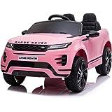 Mondial Toys Auto Macchina ELETTRICA per Bambini 12V Range Rover EVOQUE con Sedile in Pelle Cintura di Sicurezza A 5 Punti Te