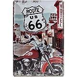 Nostalgic-Art 22164 US Highways - Route 66 Lone Rider, Blechschild 20x30 cm