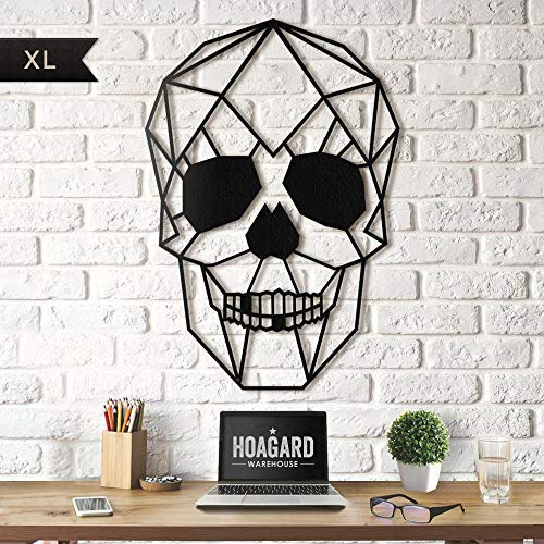 Hoagard Skull XL - Cuadro Decorativo para Pared (Metal, 65 x 90...