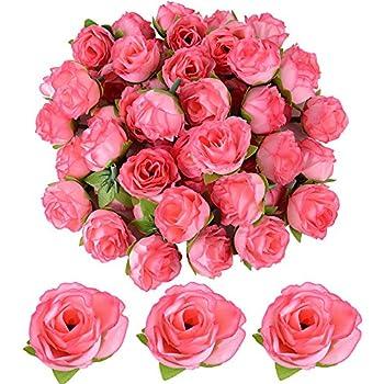 20x Künstliche Rosen Blumen Köpfe Rosenköpfe Rosenblüten Kunstblumen Hochzeit