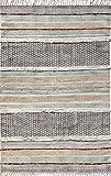 #8: RRG Cotton Designer Durry/Durrie/Rug Block Print 4X6 FT Multi Color 1 Pc