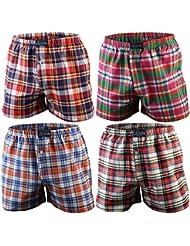 4er | 8er | 12er Pack Karo Herren Boxershorts Baumwolle gewebt, 2 Farbvarianten Qualität von Lavazio®