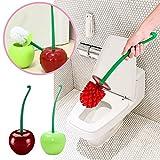 Sue Supply innovant en forme de cerise brosses WC et supports WC Brosse de nettoyage Accessoires de salle de bain Tête de brosse Couleur aléatoire Livraison