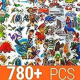 Aufkleber für Kinder 780+ stück | 50 Verschiedene Blätter