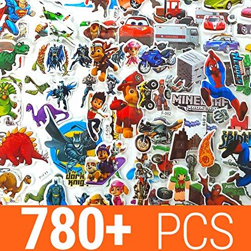 KingMungo Pegatinas para niños 780+ Pieza | 50Diferentes Hojas