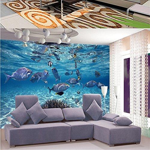 Lqwx Wallpaper stereoskopischen 3D-Unterwasserwelt des Meeres Fische, die Kinder Zimmer TV...