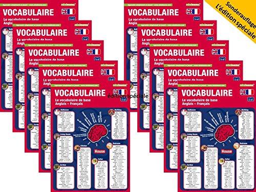 10x mindmemo Livret - Vocabulaire de base anglais / français - 1100 mots (lot de 10 par classe)