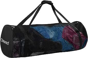 CLISPEED Mesh Duffle Bag Extra Große Tauchausrüstung mit Reißverschluss zum Tauchen Schwimmen Reisen Strand Sportausrüstung