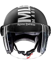Royal Enfield Matt Black Open Face with Visor Helmet Size (L)58 CM (RRGHEL000044)