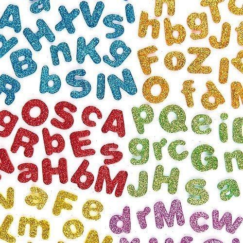 Adh-schaum (Kraftz® EVA-Buchstabenaufkleber A-Z, selbstklebend, glitzernd, Schaum, in verschiedenen Größen und Farben, für Kinder zum Basteln)