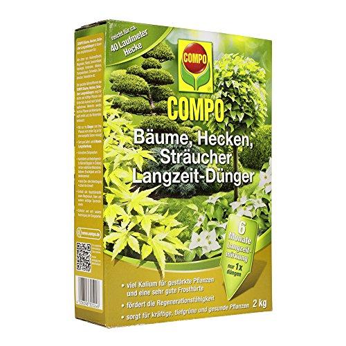 COMPO Langzeit-Dünger für alle Bäume, Hecken und Sträucher, 6 Monate Langzeitwirkung, 2 kg, 40m²