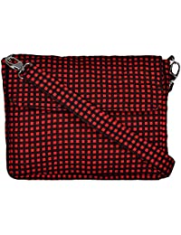 By My Side Women's Sling Bag (Red And Black)