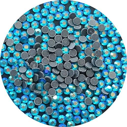 TSS blau Zirkon ab SS16–4mm 1000Stück DMC Glas Hot Fix Flat Back Eisen auf Strass mit Perlen–PREMIUM QUALITÄT