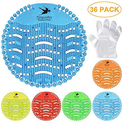 Flying swallow 6 Pack Urinal Screen & Desodorizante-