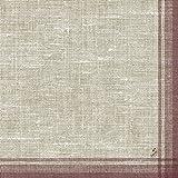 Duni Klassik-Servietten Motiv Linus bordeaux 40x40 cm 4lagig, geprägt 1/4 Falz 50 St.