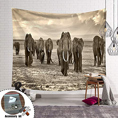 Tapices de Pared Grandes Elefante Indio Tapiz de Pared, Stillshine Naturaleza Salvaje...