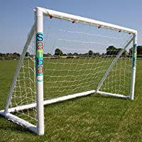 Samba 1.8m x 1.2m Football Goal with Locking Parts - Garden Goal Posts, Complete with Football Net, Clips and Pegs