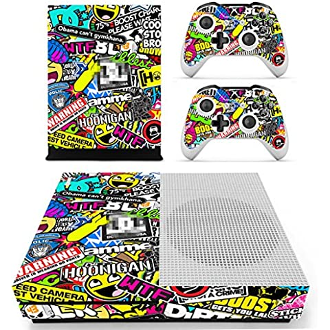 DOTBUY Vinile modello skin sticker decalcomanie della pelle per Xbox One S Console & Wireless Controller (Graffiti Art)