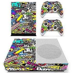 DOTBUY Xbox ONE S Design Folie Vinyl Aufkleber für Konsole + 2 Controller + Kamera Skin Sticker Set