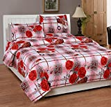 Soni Traders White & Red Check Floral Pu...