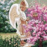 Frameless Angel Girls DIY Malen nach Zahlen Acryl Home Decor Wandkunst Leinwand Malerei Figur Minion