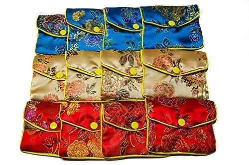 akord-womens-12-x-jewellery-silk-purse-pouch-gift-bags-purse-multicolour-multicolour