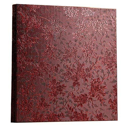 Ksmxos Fotoalbum Rahmen Cover 600Taschen für 10,2x 15,2cm Fotos, Rot -