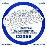 D\'Addario Corde seule à filet plat pour guitare électrique D\'Addario CG056, .056