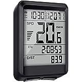 EIVOTOR Multifunktionell trådlös cykeldator vattentät cykelhastighetsmätare med tidtagarur, Odometer, LCD-bakgrundsbelysning