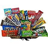 Heavenly Sweets - Grand Coffret Cadeau Américain Bonbons/Chocolat Jelly Belly Beans Cadeau Noël/Anniversaire - Panier en Osier