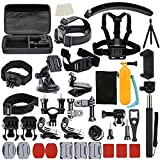 61zQxetX2cL. SL160  BEST BUY UK #1UBeesize Accessories Kit for GoPro Hero 5/4/3/2/1 Black Silver and SJ4000 SJ5000 SJ6000, Camcorder Accessories Set and Outdoor Sports Kit for Xiaomi Yi/Lightdow/WiMiUS/DBPOWER price Reviews uk