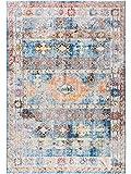 Benuta Teppich Tara Multicolor/Blau 200x290 cm - Vintage Teppich im Used-Look