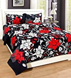 Supreme Home Collective 144 TC Microfibre Double Bedsheet with 2 Pillow Covers - Red