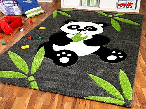 dschungel teppich Kinder Spiel Teppich Savona Kids Pandabär, Größe:120x170 cm