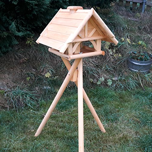 Vogelhaus Schreinerarbeit Futterhaus Vogelhäuschen --Wetterschutz-- K 75 Holz Vogelhäuser mit Dreibein Ständer