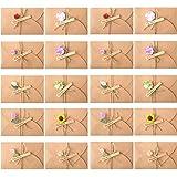 Tomkity 20 pezzi Buste Cartoncini Augurali con Busta per Diverse Occasioni Auguri di Matrimonio, Compleanno, Inviti Lettera,