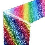 Caractéristique:  Environ 2,7 m de longueur ce chemin de table est un moyen rapide et facile d'ajouter ce sentiment chic à votre lieu.   Qualité et légèreté:  Cette nappe de paillettes colorée est faite de tissu et de paillettes, légère, sans plis et...