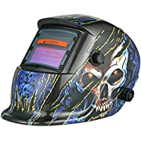 KKmoon Industrial casco de soldadura energía solar auto oscurecimiento casco de soldadura Tig Mig con banda