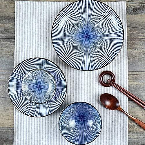New Ideas Keramik Geschirr Teller mit Western Food Steak Teller 8 Zoll Geschirr und Teller-Sets (Color : Gray)