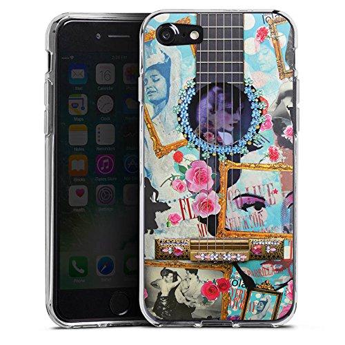 Apple iPhone X Silikon Hülle Case Schutzhülle Gitarre Kunst Flamenco Silikon Case transparent