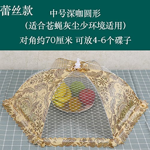 BBDQX Cover for dishes on the table, household flies cover, dining table, mosquito net umbrella, dustproof umbrella, bowl cover, dish cover,Medium - sized deep currant net Medium Deep Bowl