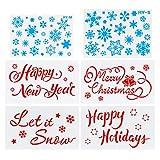 Thursday April 6 Stück Weihnachtsmotiven Schablonen Zeichenschablonen Malschablonen Wiederverwendbarer Kunststoff Weihnachts schablonen Zeichnung Malerei Set mit Schnee Weihnachten Brief