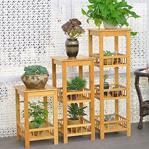 Fleur Stand Bois Solide Multi-couche Atterrissage Fleur Stand Balcon Salon Fleur Pot Rack Étagère