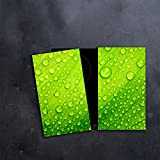 CTC-Trade | Herdabdeckplatten Set 2x30x52 cm Ceranfeld Abdeckung Glas Spritzschutz Abdeckplatte Glasplatte Herd Ceranfeldabdeckung Grün Abstraktion