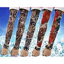 SHINA Venta caliente de Alta calidad 5 piezas temporales Tatuajes temporales Manguitos de Brazo de Tatuaje